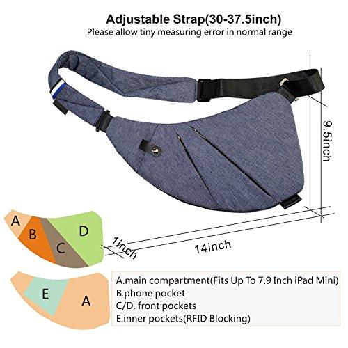 15859eca47 TOPNICE Sling Backpack Bag Ultralight Small Crossbody Bags for - Import It  All