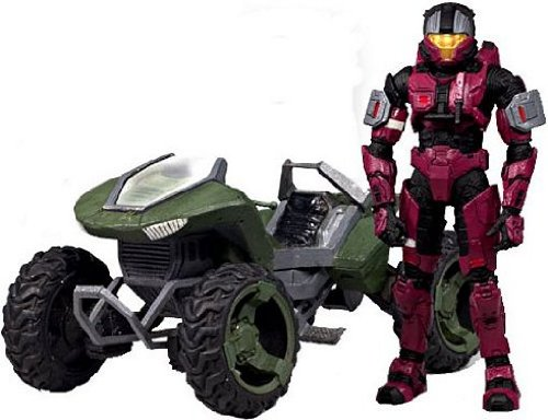 Halo 2009 McFarlane Toys Exclusive Deluxe Vehicle with Action Figure Boxed Set Mongoose with Crimson & Steel CQB
