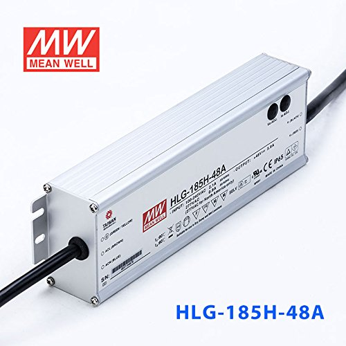 Meanwell HLG-185H-48A Power Supply - 185W 48V 3.9A - IP65 - Adjustable Output