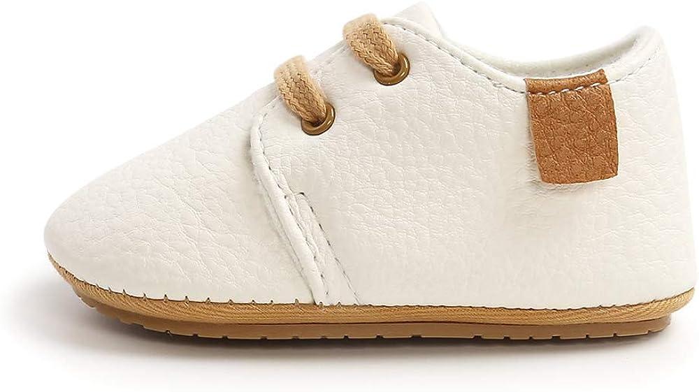 LACOFIA Zapatos Oxford con Cordones para Beb/é Ni/ños Zapatillas Primeros Pasos Antideslizantes para Beb/és