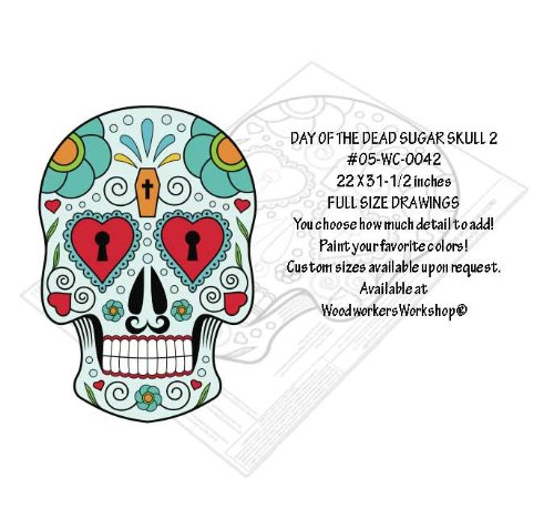 Sugar Skull 2 Yard Art Paper Woodworking Pattern Amazon Com