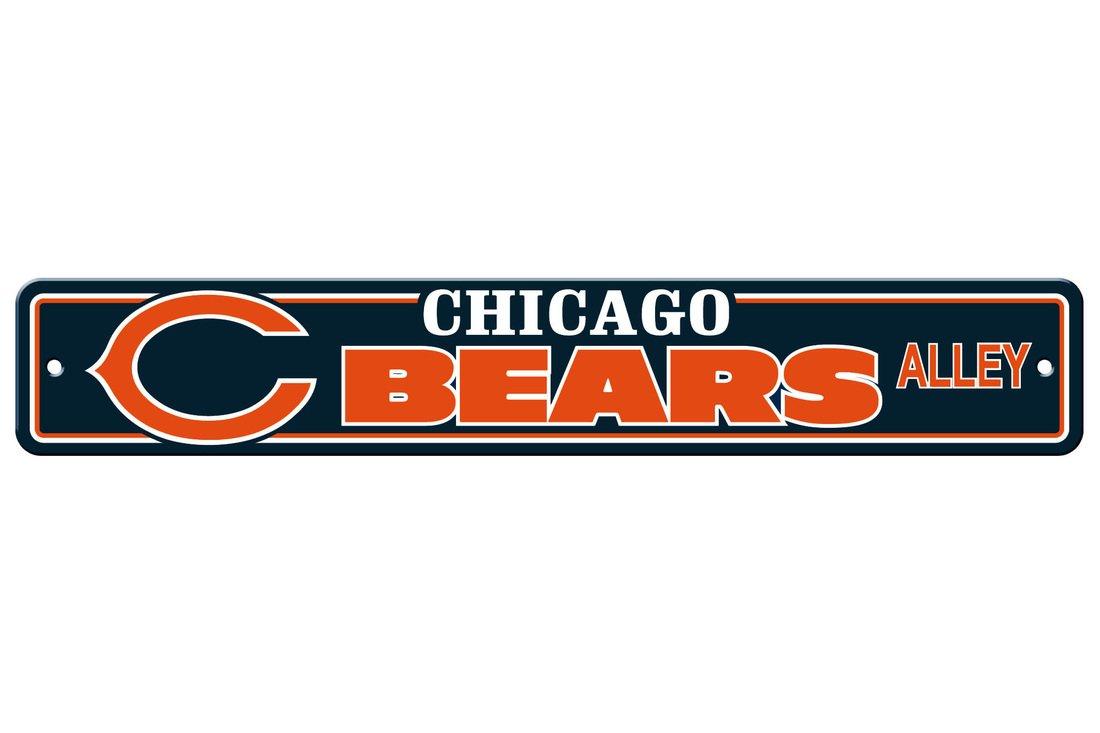 Fremont Die NFL Chicago Bears Plastic Street Sign