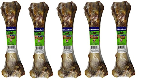 Ham Products Pet ((5 Pack) Redbarn Ham Bone - Jumbo)