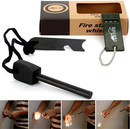Feuerstein Magnesium Feuerstarter Fire Start Anzünder Zündstein Flint Feuerstahl