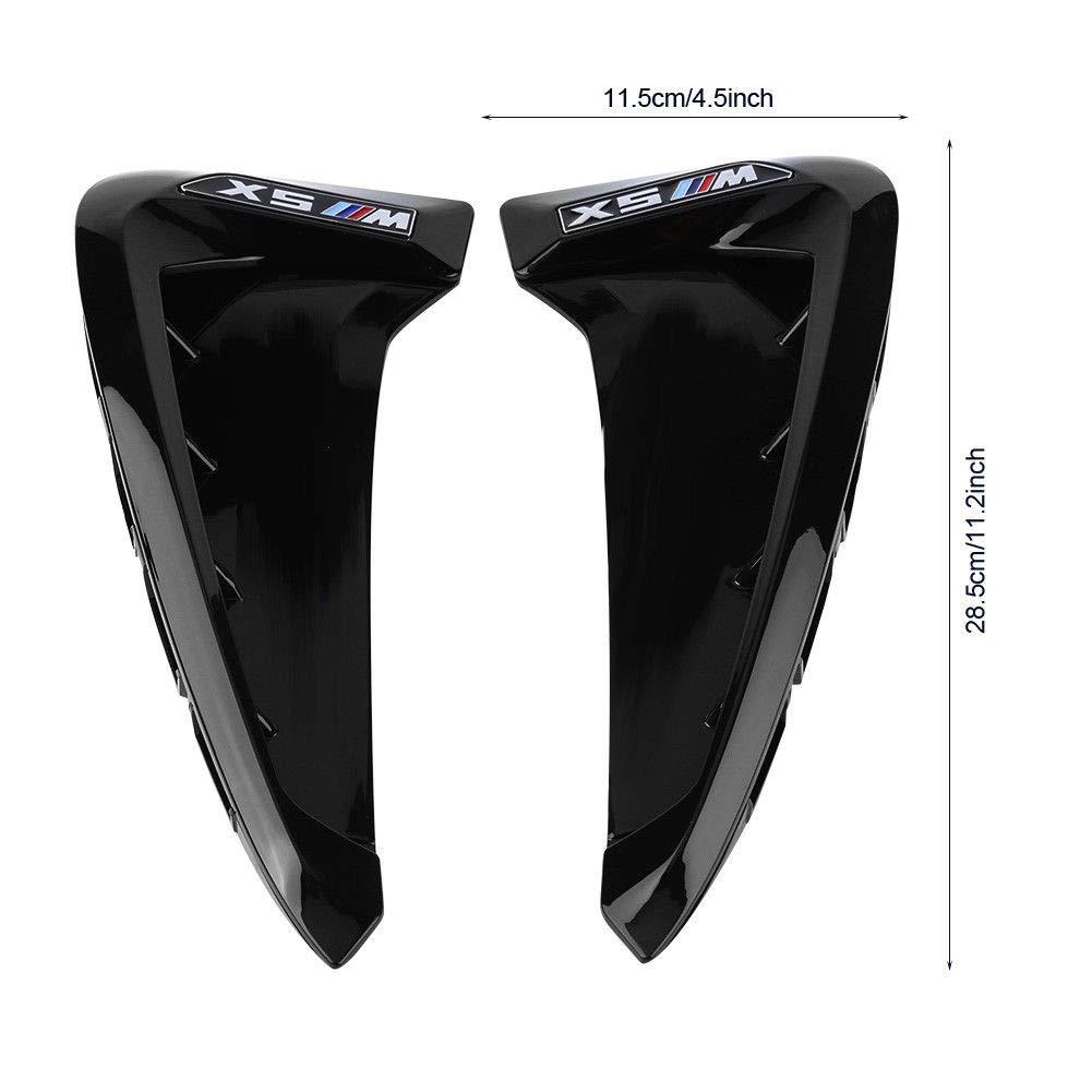 FidgetGear 2pcs Side Wing Air Flow Fender Grille Intake Vent Trim For BMW X5 F15 2014-2017