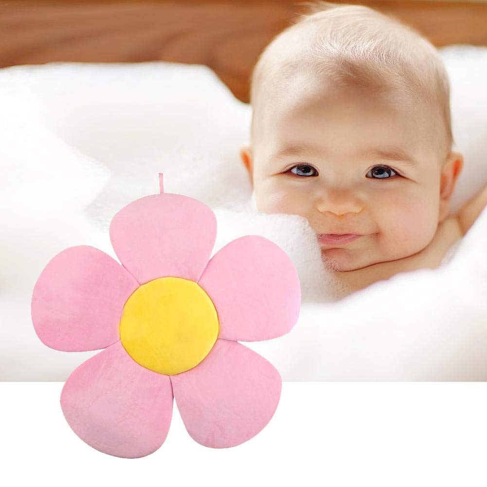 Yunt Baby Flower Bath Mat Cushion Baby Batther Pad Infant Bath Cushions Pink