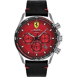 Scuderia Ferrari Mens Chronographe Quartz Montre avec Bracelet en Cuir 830713 18