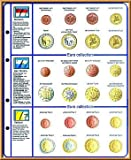 Lindner 8450-13 Illustrated page EURO COLLECTION: Euro Coin sets Monaco/San Marino/Vatican