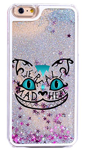 Bling Glitter Phone Case Cover For iPhone 6S / 6 - We Are All Mad Here Cheshire Cat