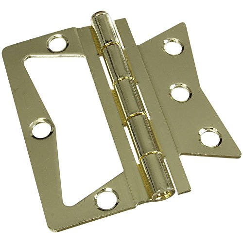 (National Hardware N244-806 V535 Surface-Mounted Hinges in Brass, 2 pack)