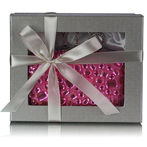 TrendStar Damen Kupplungs Taschen Damen Berühmtheit Stil hart Fall Kupplungs von Boc Handtaschen Rosa WRPtzra