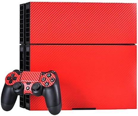 Carbon sintonizador Style Design – Protector de pantalla para PlayStation 4 Consola (para ambos lados + Bordes/Full Body) y controlador para 2/Pegatinas, Skin para PS4 consola de juegos en rojo: Amazon.es: Electrónica