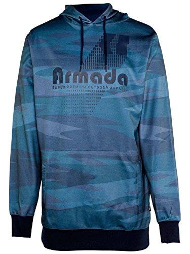 Armada Men's Multiply Pullover Tech Hoody (Camo Dots, Medium) (Armada Hoodie)