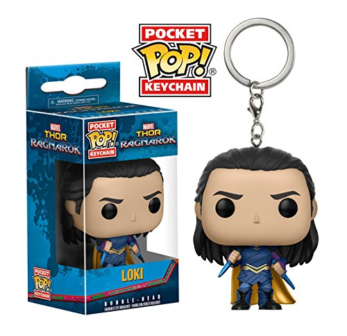 Funko Pop! 13784, Llavero Marvel Loki, Multicolor