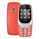 Nokia 3310 3G 2017 (TA-1022) 128MB 2.4-inches Factory Unlocked - International Stock No Warranty (Warm Red)