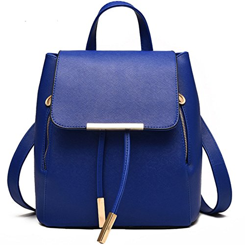 Fivelovetwo Bolsos Bolso Hombro Backpack Mochila Niña Cordón Rucksack Escuela Cuero Ocio Azul Pu La Clásico Viaje Mujer Oscuro De xIrzvx