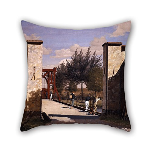 Oil Painting Christen Købke - The North Gate Of The Citadel Pillowcase 20 X 20 Inches / 50 By 50 Cm For Divan,family,play Room,lover,office,valentine With Two Sides