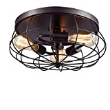 YOBO Lighting Oil Rubbed Bronze Flush Mount Ceiling