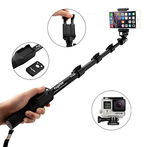 Fugetek FT-568 Professional Selfie Stick with Bluetooth Remote for Apple, Android, Gopro...