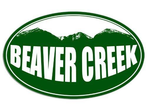 Vinyl USA Oval Beaver Creek Colorado Mountain BG Sticker (Snow ski Resort)