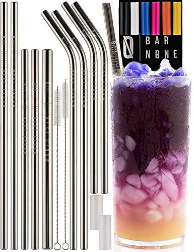 Bar None Best Straws Set of 10 | 8.5 & 10.5