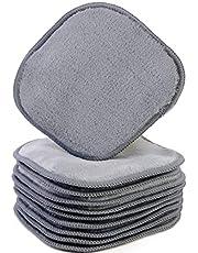 Polyte - Premium microvezel fleece doek om makeup te verwijderen en uw gezicht te reinigen - hypoallergeen en chemicaliënvrij - 10-pack - grijs - 13 x 13 cm