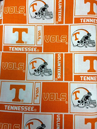 University of Tennessee Vols Patch Cotton Fabric, Orange & White - Sold By the - Fabric Cotton University