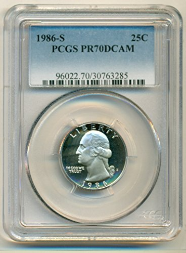 1986 S Washington Proof Quarter PR70 DCAM PCGS