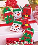 Set of 6 Reusable Felt Gift Holiday Card Holders by GetSet2Save