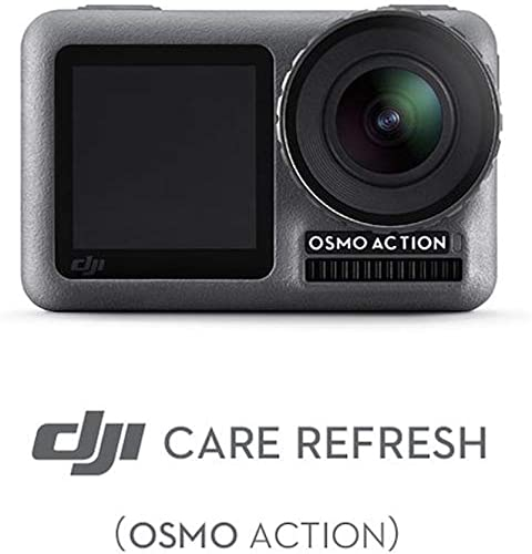DJI OSMO Action Camera with DJI Care Refresh, Comes 128GB Extreme Micro SD, with 2 Displays, 11m Waterproof, 4K HDR Video, 12MP 145 Degree Angle Black , with 128GB Care Refresh AC001