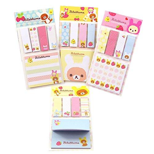 Cute Strawberry Bear Sticker Bookmark Point It Marker Memo Flags Sticky ()