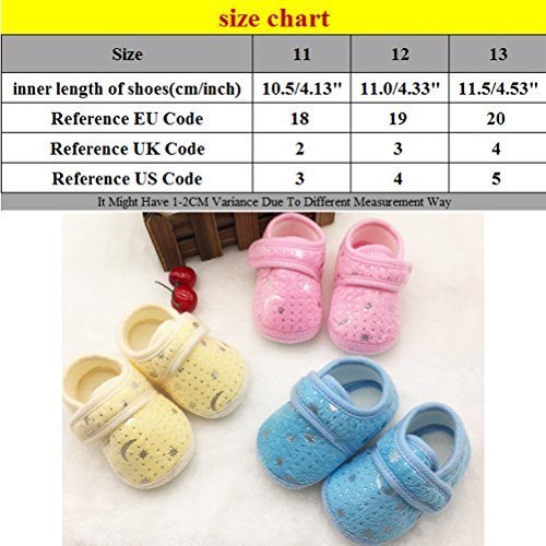 Zhhlinyuan Cute Bebé Infant Boys Girls Soft Anti-skid Toddler Shoes Crib Shoes Pink