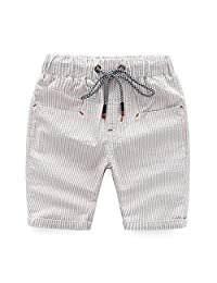 Bluecandy Summer Cotton Baby Boys Shorts Children Beachwear Casual Beach Shorts Kids Clothes for Age 3-10 Years Old