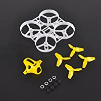 Thriverline 75mm Tiny Whoop Frame Kits with Canopy for KINGKONG TINY 7 DIY Micro FPV Quadcopter Mini Drone (Orange)
