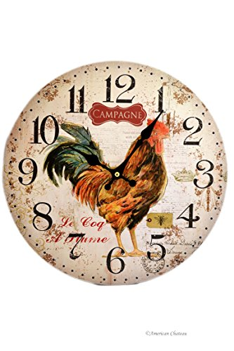 "13.25"" Large Vintage French Country Kitchen Rooster Bistr..."