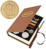 Stamp Seal Sealing Wax Vintage Classic Old-Fashioned Antique Alphabet Initial Letter Set Brass Color Creative Romantic Stamp Maker (B)