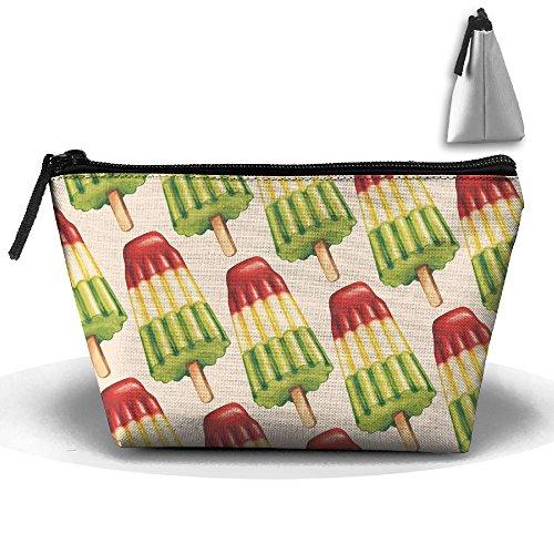 Frozen Bomb Pop Popsicle Zipper Closure Pouch Travel Multi-functional Cosmetic Bags
