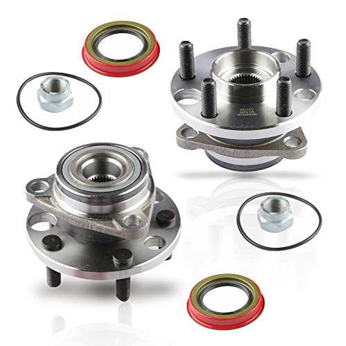 MOSTPLUS Wheel Bearing Hub Front Wheel Hub and Bearing Assembly 513017k for Cavalier, Firenza, Grand Am, Skylark, Sunbird, Sunfire Left & Right Side 5 Lug (Set of 2)