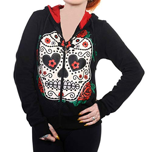 Donna Teschio D Pullover Tema Juleya Cappuccio Felpe Con 5xl Size Gotico A Plus Allentato Halloween Di dqSISwZ
