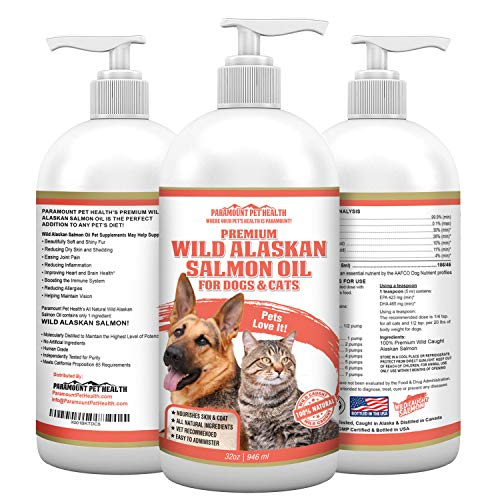 Paramount Pet Health Wild Alaskan Salmon Oil for Dogs and Cats