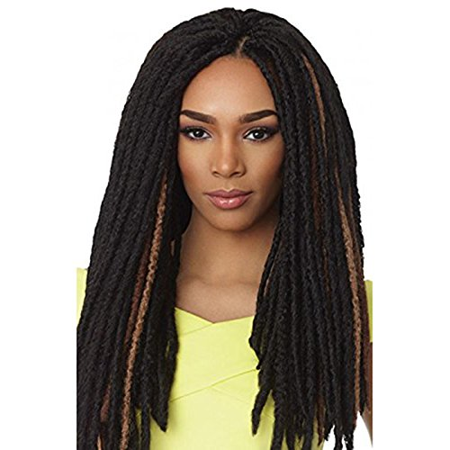 Black 1B Double Ended Dreadlocks. Synthetic Dreads. Locks -