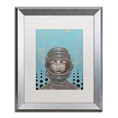 - Trademark Fine Art Sally-Saturn by Craig Snodgrass, White Matte, Silver Frame 16x20-Inch