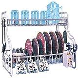 Dhavesai Plastic Multipurpose Kitchen Rack with 2 Shelves (Multicolour)