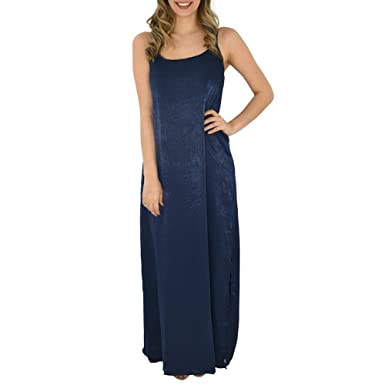 d5f1c1bf2deaf PPLA Bianca Woven Maxi Dress in Navy at Amazon Women's Clothing store: