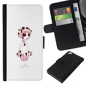 All Phone Most Case / Oferta Especial Cáscara Funda de cuero Monedero Cubierta de proteccion Caso / Wallet Case for HTC Desire 820 // Bleeding Puppet - Evil Goth
