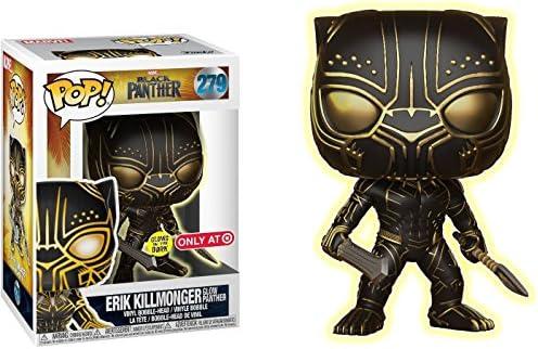 Erik Killmonger in Mask Glow in the Dark #279 Exclu Black Panther Funko Pop