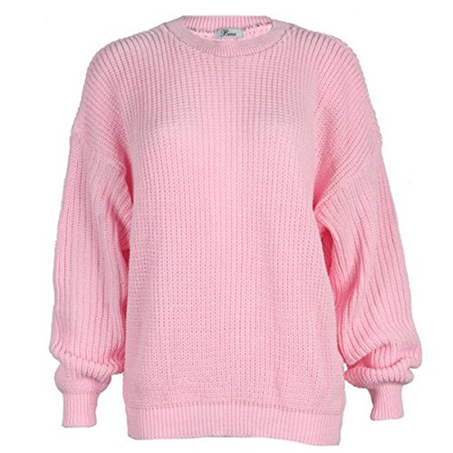 Girls Walk Women's Plus Size Chunky Knitted Oversize Baggy Jumper Sweater Top