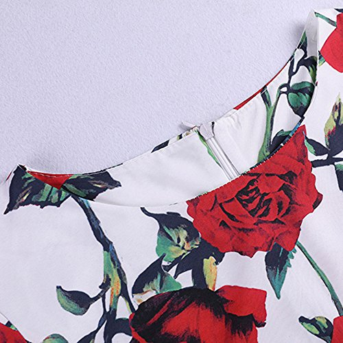Spring Birdfly Vintage Cherry Print Hepburn amp; amp; Gown Ball Women 42 Plus Waist Rose Lemon Dots Dress amp; Red 2L Summer Style Beam dtqwq