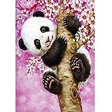 Full Drill 5D Diamond Painting Kit Cross Stitch Supply Arts Craft Canvas Wall Decor A Panda Climbing A Tree 11.8x15.7in 1 by Aimerson