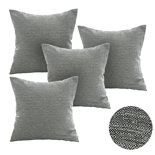 Deconovo Soft Cushion Covers for Sofa Pillow Covers Faux Lin